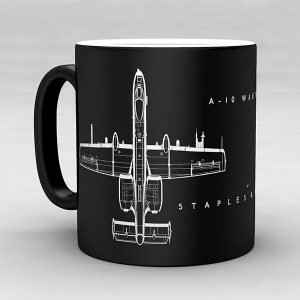 A-10 Warthog aircraft aviation mug by Staples and Vine Ltd.