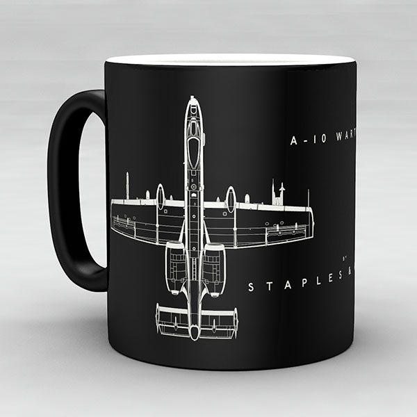A-10 Warthog aircraft aviation mug by Staples and Vine Ltd.