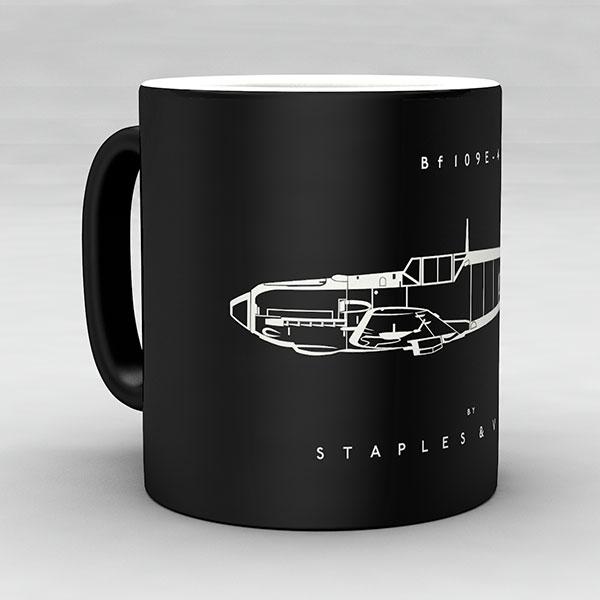Bf 109E-4 aircraft aviation mug by Staples and Vine Ltd.