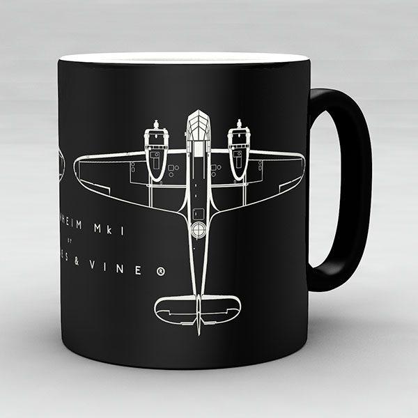 Bristol Blenheim Mk I aircraft aviation mug by Staples and Vine Ltd.