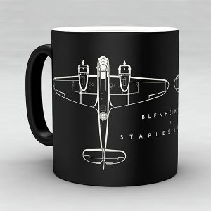Bristol Blenheim Mk I aircraft aviation mug by Staples and Vine Ltd.