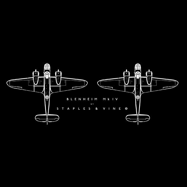 Bristol Blenheim Mk IV aircraft mug. Aviation graphic by Staples and Vine Ltd.