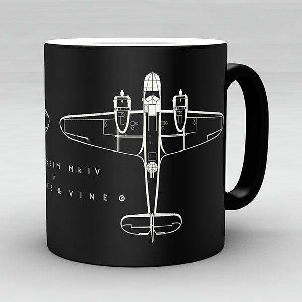 Bristol Blenheim Mk IV aircraft aviation mug by Staples and Vine Ltd.