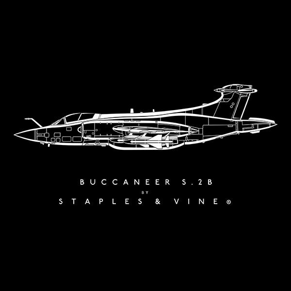 Buccaneer S2B aircraft aviation T-shirt graphic by Staples and Vine Ltd.