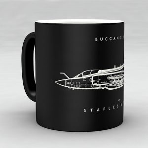 Buccaneer S2B aircraft aviation mug by Staples and Vine Ltd.