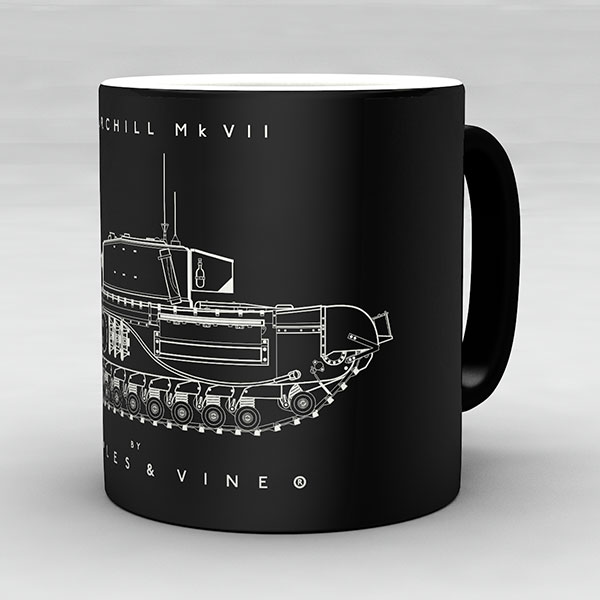 Churchill Mk VII tank mug by Staples and Vine Ltd.
