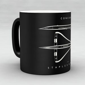 Concorde aircraft aviation mug by Staples and Vine Ltd.