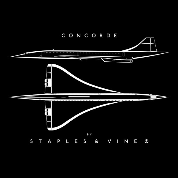 Concorde aircraft mug aviation graphic by Staples and Vine Ltd.