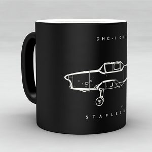 DHC-1 Chipmunk aircraft aviation mug by Staples and Vine Ltd.