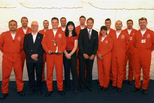 In 2005 we were proud to be invited to the Royal International Air Tattoo as guests of the RAF Benevolent Fund. As guests we met the Red Arrows who were fascinated by our solid silver model of the BAE Systems Hawk, the aircraft which they fly in their aerobatic displays to delight crowds at airshows across the UK.