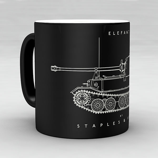 Elefant tank mug by Staples and Vine Ltd.