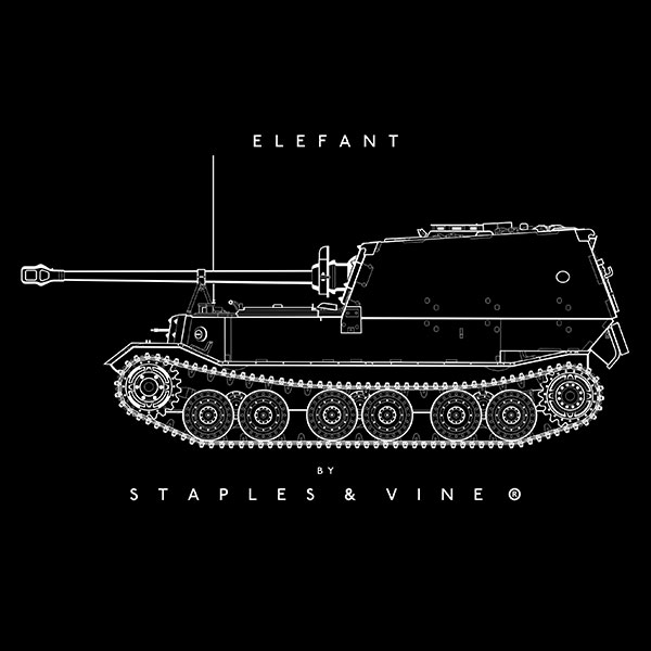 Elefant tank mug graphic by Staples and Vine Ltd.