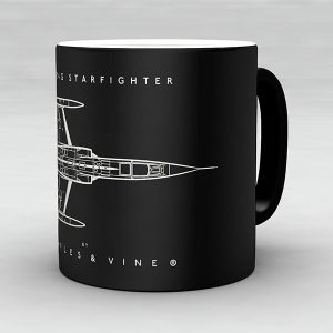 F-104G Starfighter aircraft aviation mug by Staples and Vine Ltd.
