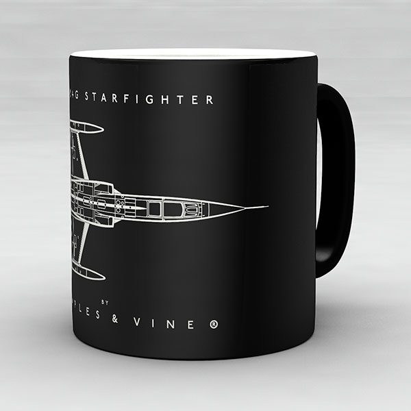 F-104G Starfighter aircraft aviation mug by Staples and Vine Ltd.