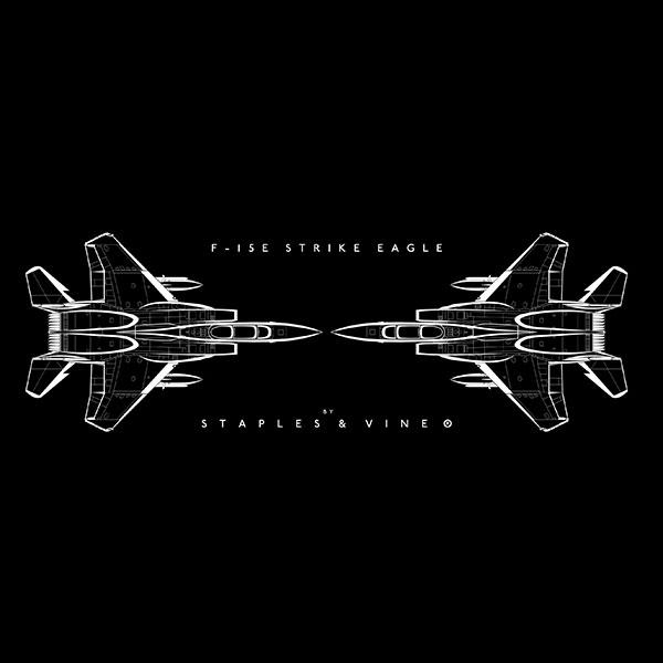 F-15E Strike Eagle aircraft mug. Aviation graphic by Staples and Vine Ltd.