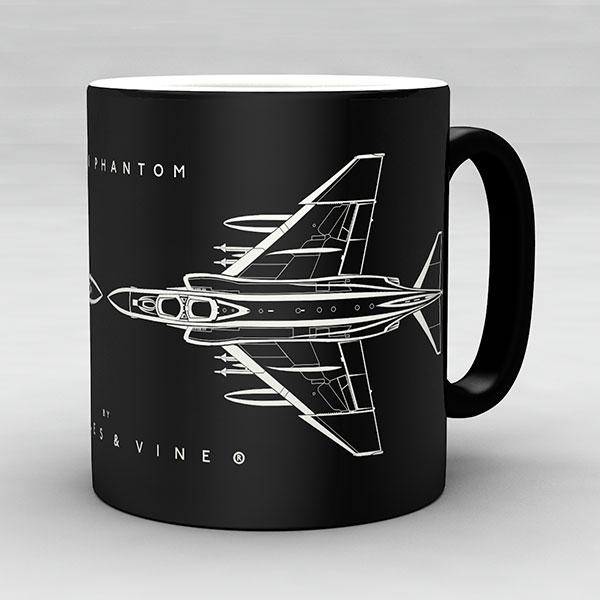 F-4J Phantom aircraft aviation mug by Staples and Vine Ltd.