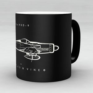Focke Wulf Fw 190D-9 aircraft aviation mug by Staples and Vine Ltd.