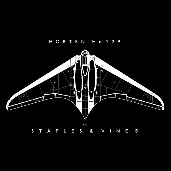 Horten Ho 229 aircraft mug. Aviation graphic by Staples and Vine Ltd.