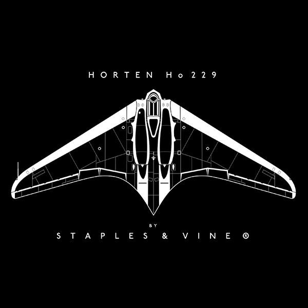 Horten Ho 229 aircraft mug. Aviation graphic by Staples and Vine Ltd.