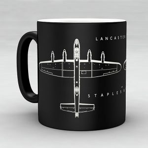 Avro Lancaster MK III aircraft aviation mug by Staples and Vine Ltd.