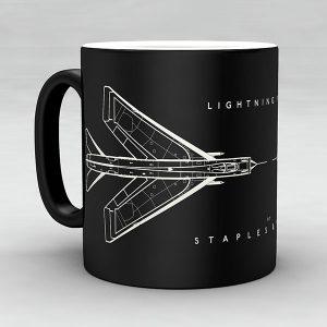Lightning F1A aircraft aviation mug by Staples and Vine Ltd.
