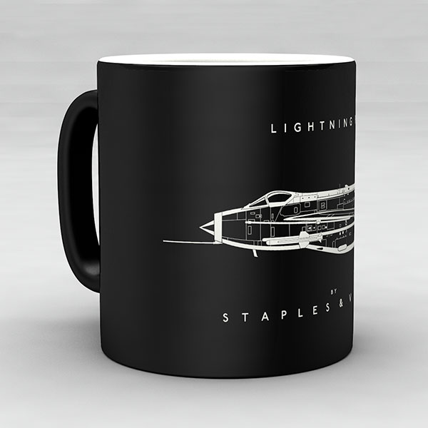 Lightning F6 aircraft aviation mug by Staples and Vine Ltd.