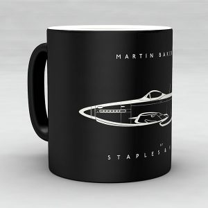 Martin Baker MB5 aircraft aviation mug by Staples and Vine Ltd.