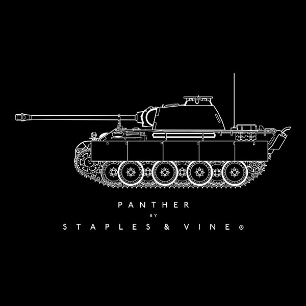 Panther tank T-shirt graphic by Staples and Vine Ltd.