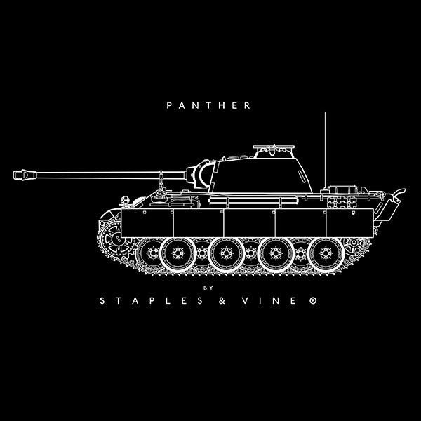 Panther tank mug graphic by Staples and Vine Ltd.