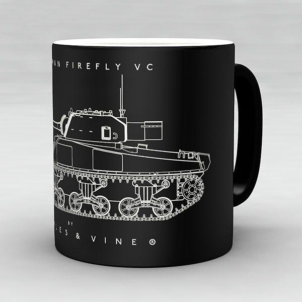 Sherman Firefly VC tank mug by Staples and Vine Ltd.