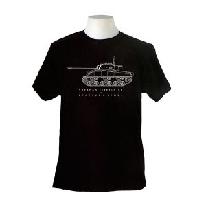 Sherman Firefly VC tank T-shirt by Staples and Vine Ltd.