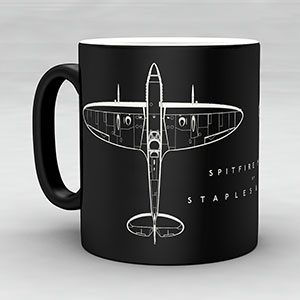Exclusive copyrighted designs by Sera Staples form the basis of our unique new range of aviation and tank themed Staples and Vine merchandise.