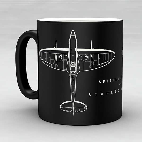 Spitfire Mk IXC aircraft aviation mug by Staples and Vine Ltd.