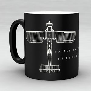 Fairey Swordfish MK I aircraft aviation mug by Staples and Vine Ltd.