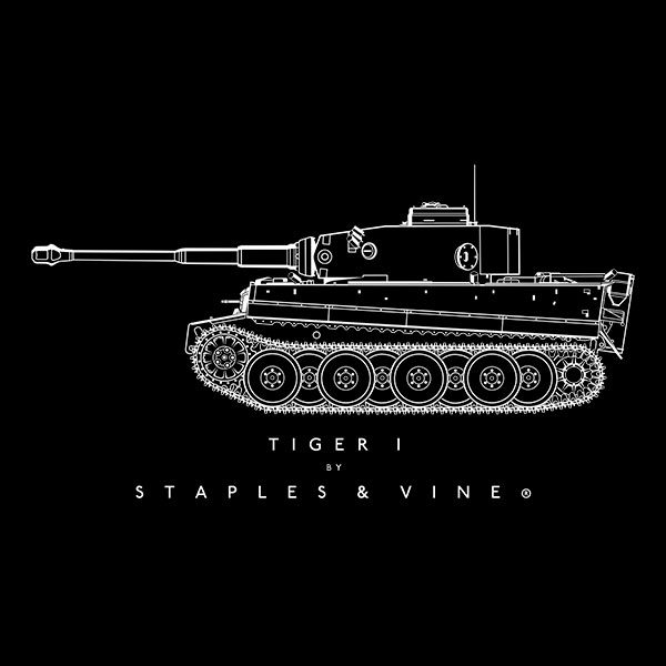 Tiger I tank T-shirt graphic by Staples and Vine Ltd.