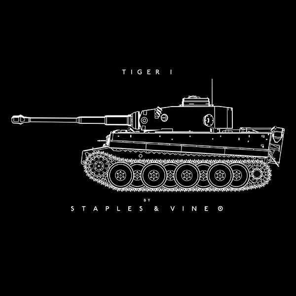 Tiger I tank mug graphic by Staples and Vine Ltd.