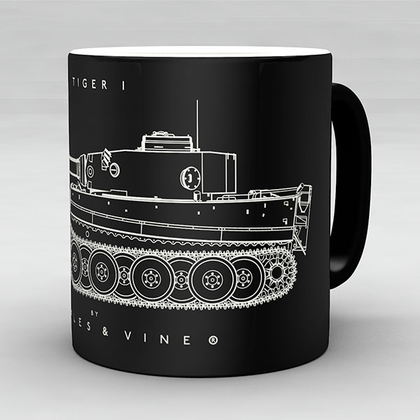 Tiger I tank mug by Staples and Vine Ltd.