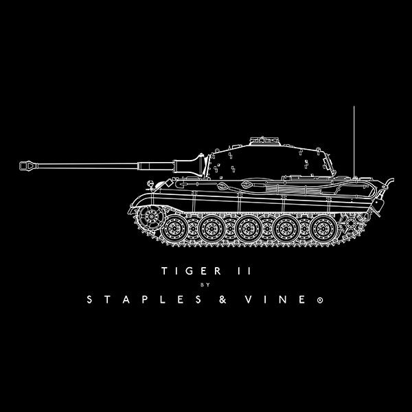 Tiger II tank T-shirt graphic by Staples and Vine Ltd.