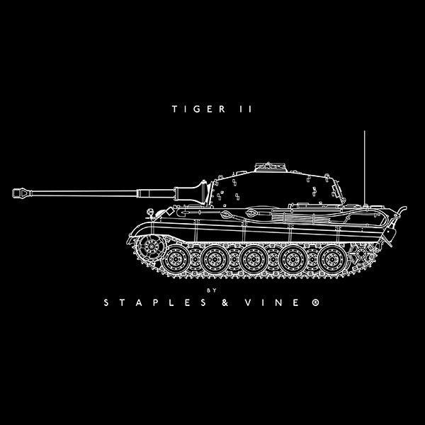 Tiger II tank mug graphic by Staples and Vine Ltd.