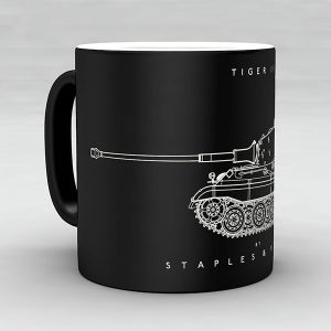 Tiger II tank mug by Staples and Vine Ltd.