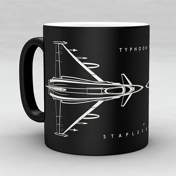 Typhoon FGR4 aircraft aviation mug by Staples and Vine Ltd.