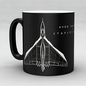 Avro Vulcan B2 aircraft aviation mug by Staples and Vine Ltd.