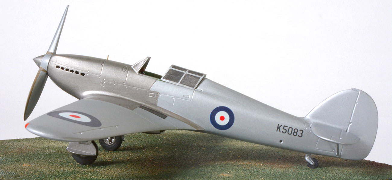 Hurricane Prototype 1/48 scale as flown on the maiden flight.