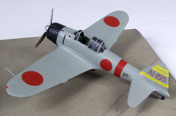 Mitsubishi A6M2 Zero 1/72 pewter limited edition aircraft model. From the carrier Akagi which took part in the attack on Pearl Harbor. Handmade by Staples and Vine Ltd.