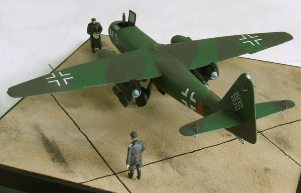 Arado Ar 234B-2 1/72 scale pewter limited edition aircraft model. One of the aircraft that bombed the Remagen Bridge. Handmade by Staples and Vine Ltd.