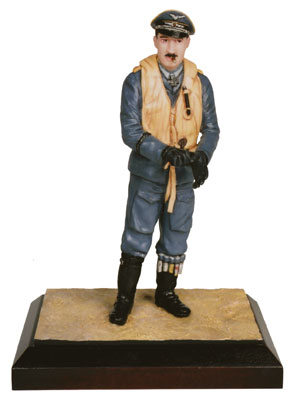 Oberstleutnant Adolf Galland limited edition 120mm pewter figure of the famous Luftwaffe fighter ace. Handmade by Staples and Vine Ltd.
