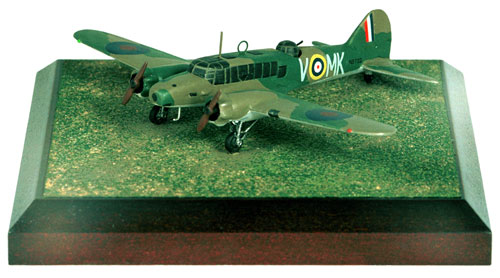 Avro Anson Mk I 1/144 scale pewter limited edition aircraft model heavily armed to shoot down Bf 109s. Handmade by Staples and Vine Ltd.