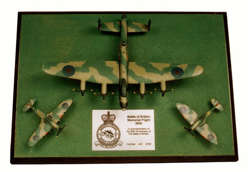 Battle of Britain Memorial Flight 1/144 scale pewter limited edition aircraft models made for the Battle of Britain 60th anniversary. Handmade by Staples and Vine Ltd.
