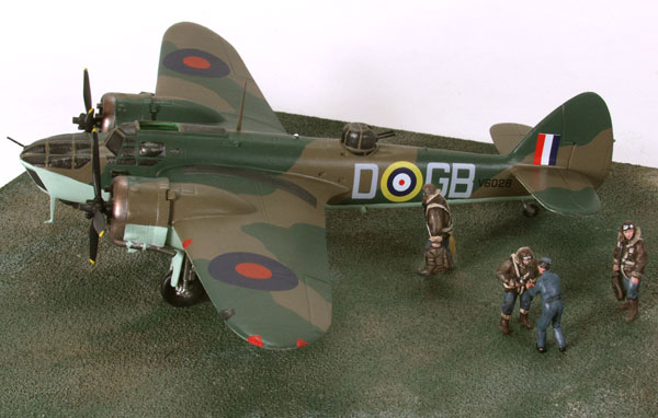 Bristol Blenheim Mk IV 1/72 scale pewter limited edition aircraft model as flown by Hughie Edwards VC. Handmade by Staples and Vine Ltd.