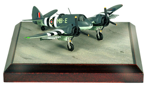 Bristol Beaufighter Mk X 1/144 scale pewter limited edition aircraft model. Featuring full D-Day stripes and rockets. Handmade by Staples and Vine Ltd.